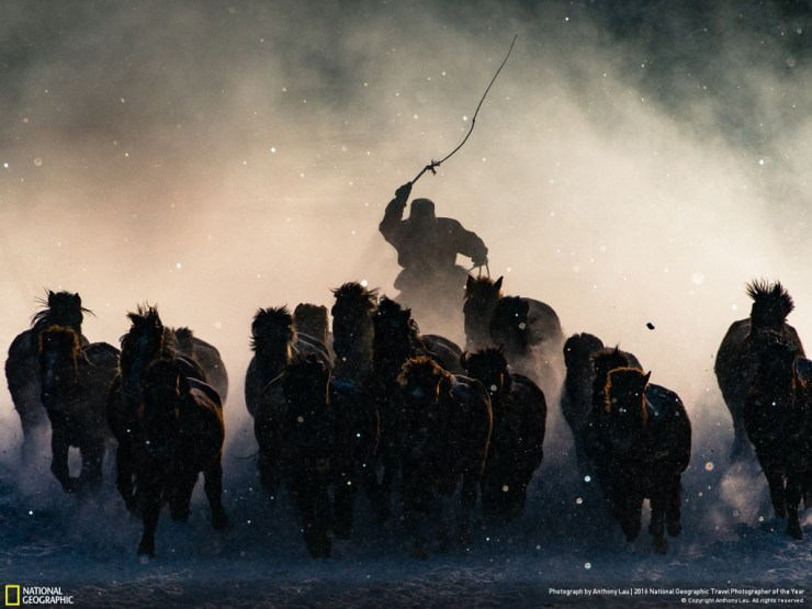 Winter Horseman by Anthony Lau. Grand Prize Winner. 2016 National Geographic Travel Photographer of the Year. Click image for more.