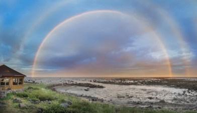 Rainbow at Seal River. Jad Davenport photo.
