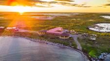 Seal River Heritage Lodge aerial view. Michael Poliza photo.