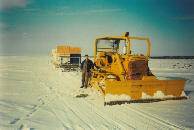 Doug Webber with early Cat Train on Button Bay.