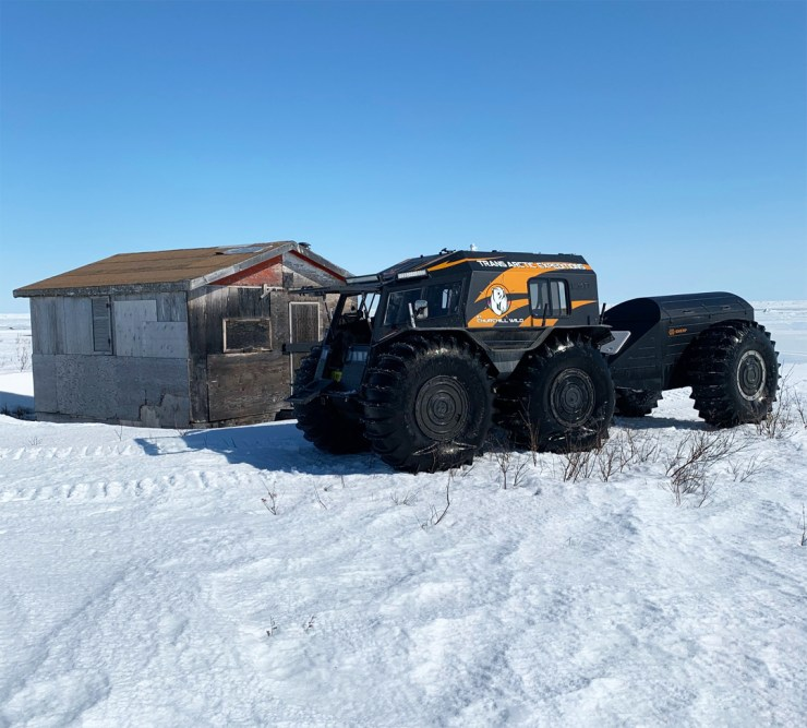 Shack break on Hudson Bay coast.