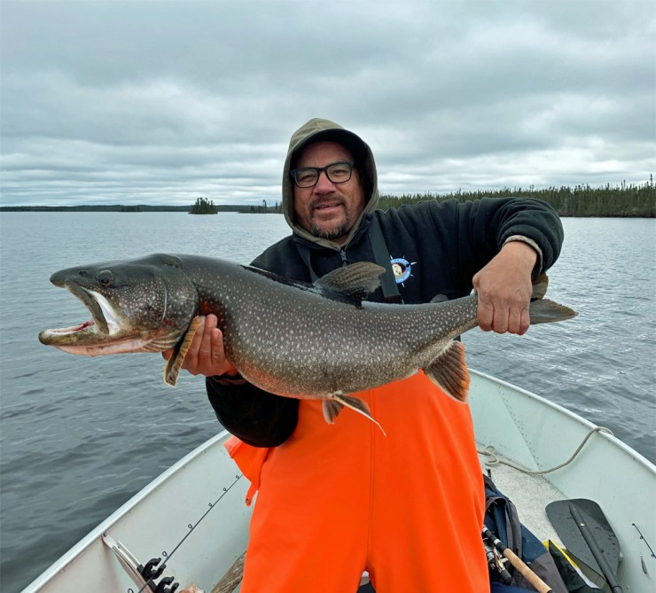 Churchill Wild guide Norm Rabiscah can catch fish too!