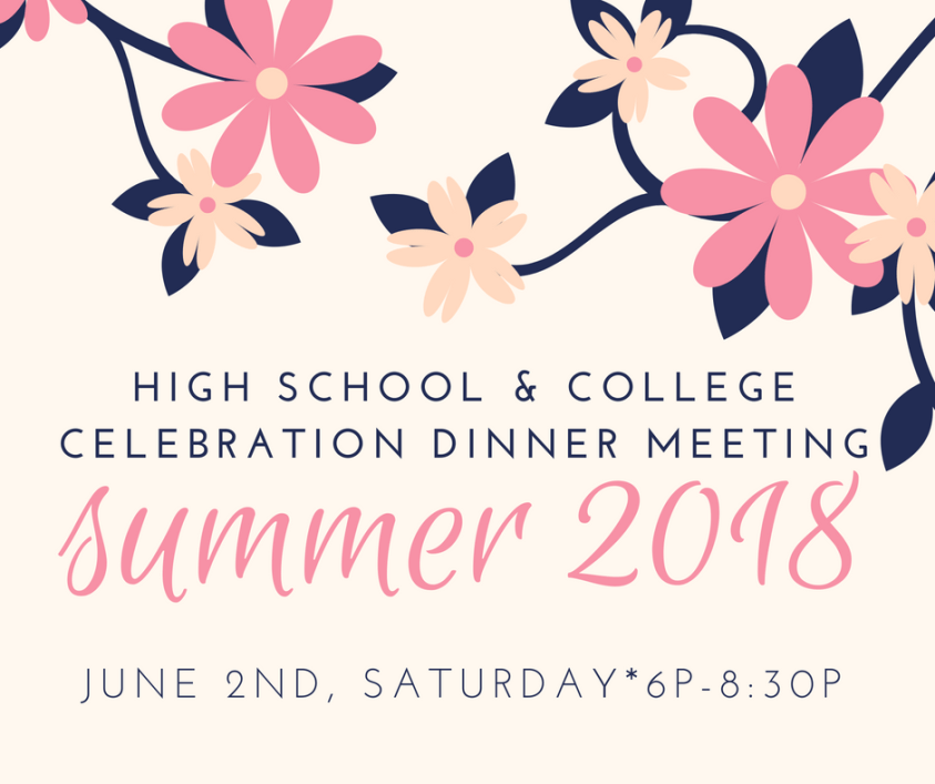 high school and college celebration meeting
