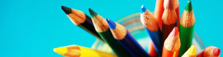 image showing a cup of color pencils.