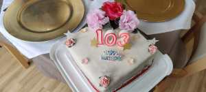 103 Birthday Celebrations at Hillview Residentail care at Burnham on Sea
