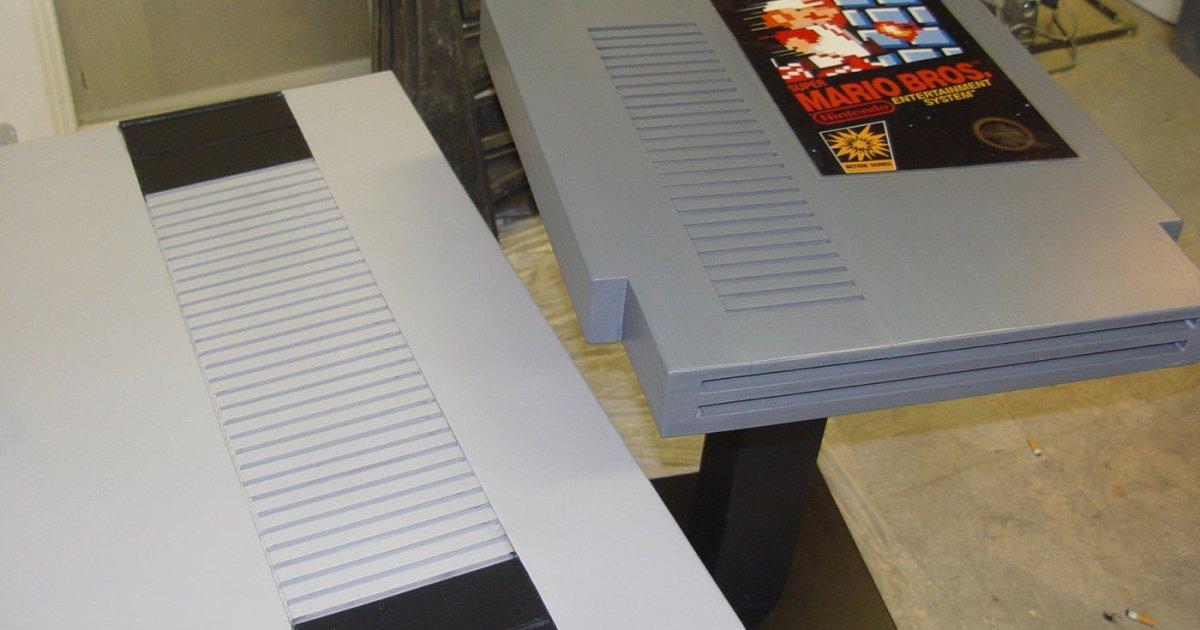 giant nintendo nes 8bit 8-bit living room design furniture