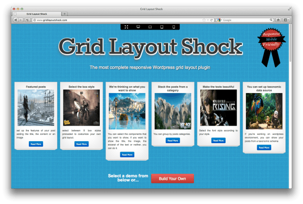 Grid Layout Shock Screenshot