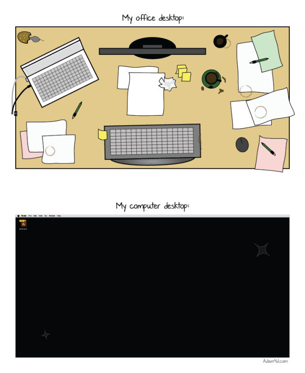 Office Desktop Comic