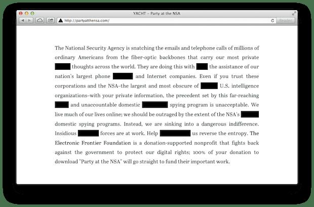 Party at the NSA Screenshot Before