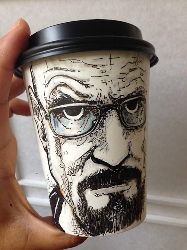 miguel cardona breaking bad sketch coffee cup
