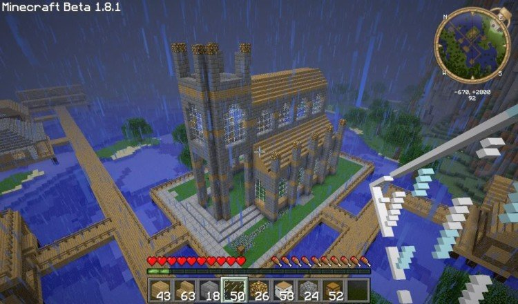 How to build a Minecraft church 09