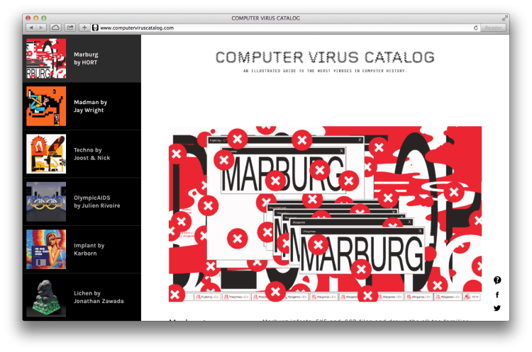 The Computer Virus Catalog - Browser