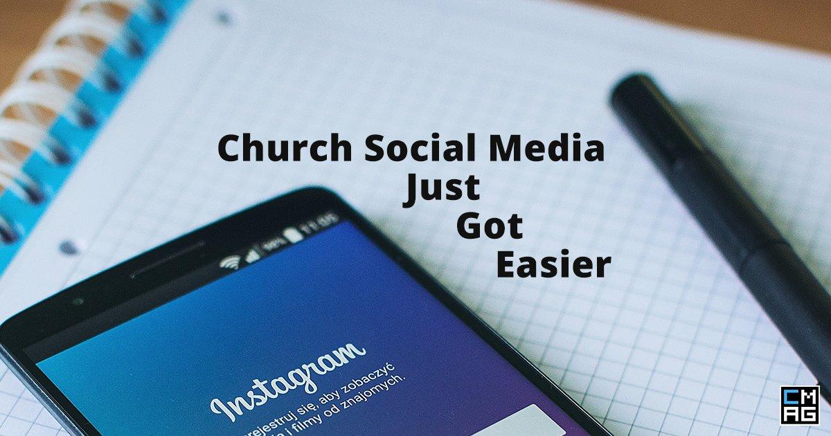 Facebook and Instagram Make Church Social Media Easier