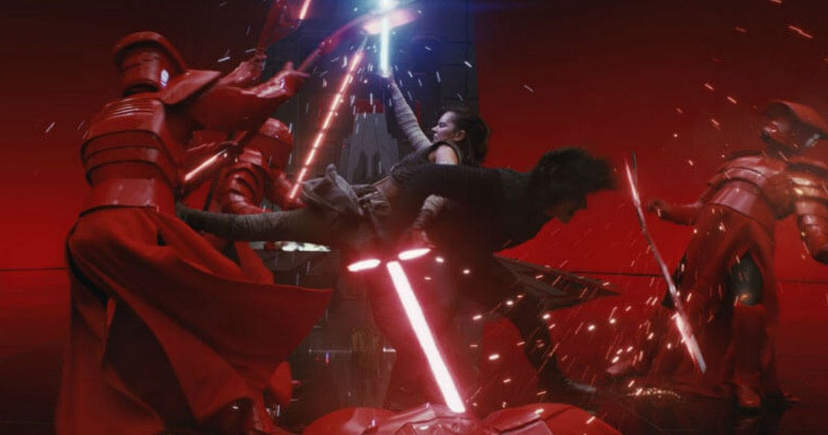 Star Wars The Last Jedi Throne Room Scene in LEGO