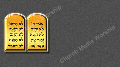 10 Commandments V5 Gray Christian Worship Background. High quality worship images for use to spread the Gospel and enhance the worship experience.