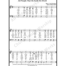 All people that on earth do dwell Sheet Music (SATB) with Practice Music tracks. Make unlimited copies of sheet music and the practice music.
