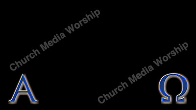 Alpha and Omega Blue Christian Worship Background. High quality worship images for use to spread the Gospel and enhance the worship experience.