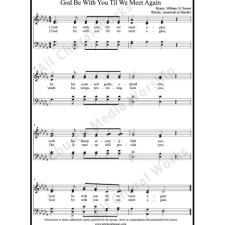 God be with you Sheet Music (SATB) with Practice Music tracks. Make unlimited copies of sheet music and the practice music.