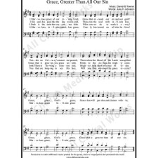 Grace Greater than all Our Sin Sheet Music (SATB) with Practice Music tracks. Make unlimited copies of sheet music and the practice music.