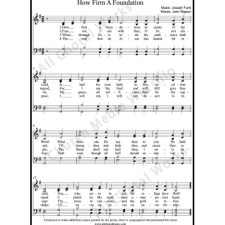 How firm a foundation Sheet Music (SATB) with Practice Music tracks. Make unlimited copies of sheet music and the practice music.