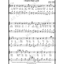 I Thank Thee Lord Sheet Music (SATB) with Practice Music tracks. Make unlimited copies of sheet music and the practice music.