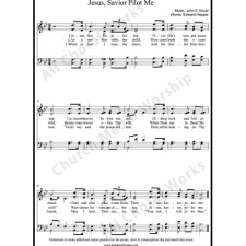 Jesus Savior Pilot Me Sheet Music (SATB) with Practice Music tracks. Make unlimited copies of sheet music and the practice music.