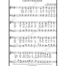Lead on O king eternal Sheet Music (SATB) with Practice Music tracks. Make unlimited copies of sheet music and the practice music.