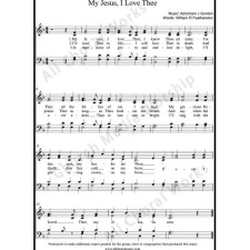 My Jesus I love thee Sheet Music (SATB) with Practice Music tracks. Make unlimited copies of sheet music and the practice music.