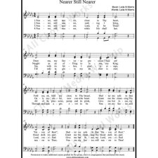 Nearer Still Nearer Sheet Music (SATB) with Practice Music tracks. Make unlimited copies of sheet music and the practice music.