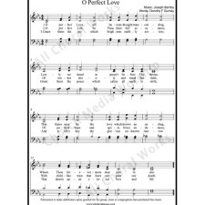 O perfect love Sheet Music (SATB) with Practice Music tracks. Make unlimited copies of sheet music and the practice music.