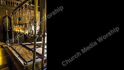 Stone of Unction Jesus embalmed after death Christian Worship Background. High quality worship images for use to spread the Gospel and enhance the worship