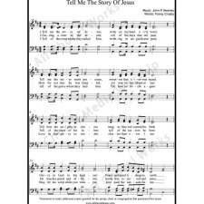 Tell me the story of Jesus Sheet Music (SATB) with Practice Music tracks. Make unlimited copies of sheet music and the practice music.