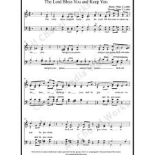 The Lord bless you and keep you Sheet Music (SATB) with Practice Music tracks. Make unlimited copies of sheet music and the practice music.