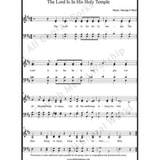 The Lord is in his holy temple Sheet Music (SATB) with Practice Music tracks. Make unlimited copies of sheet music and the practice music.