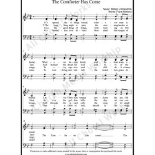 The comforter has come Sheet Music (SATB) with Practice Music tracks. Make unlimited copies of sheet music and the practice music.