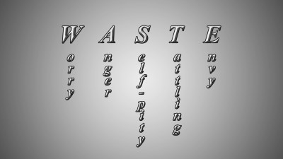 WASTE Acronym Christian Animated Still A professional animated intro that's stops on a still image without continuous movements distraction