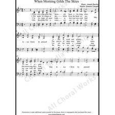 When morning gilds the skies Sheet Music (SATB) with Practice Music tracks. Make unlimited copies of sheet music and the practice music.