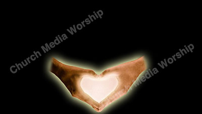 Heart shaped hands black Christian Worship Background. High quality worship images for use to spread the Gospel and enhance the worship experience.