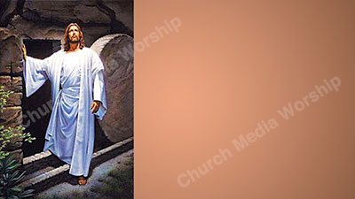 Stone rolled away V2 skin tone Christian Worship Background. High quality worship images for use to spread the Gospel and enhance the worship experience.