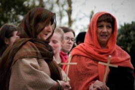 Palm Sunday Procession in Carrigaline, many in costume