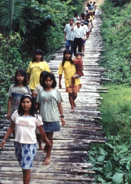 Village bridge in Peru