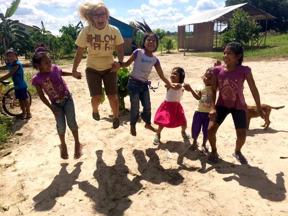 jessica clark jumping with kids