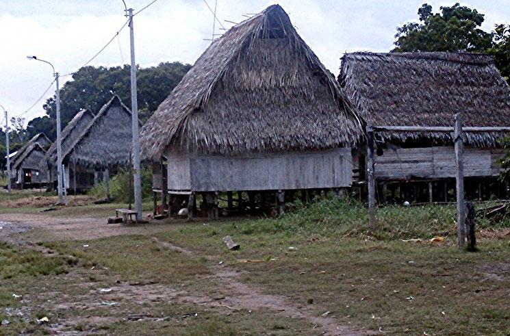 Shipibo village of Nuevo Olaya