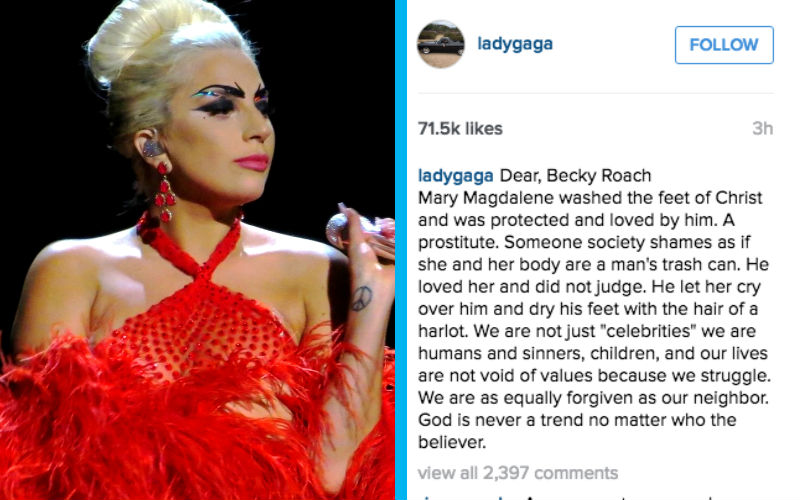 God Is Never A Trend Lady Gaga Responds To Catholic