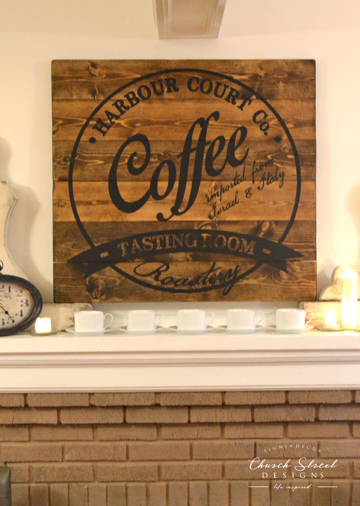 Coffee Wall Art Customizable With Your Name Or Company Church Street Designs