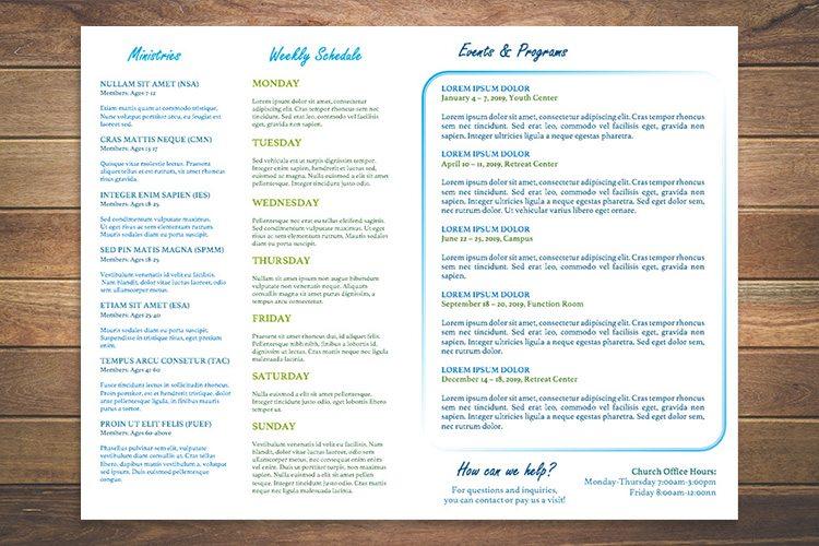 weekly bulletin template - weekly schedule template word