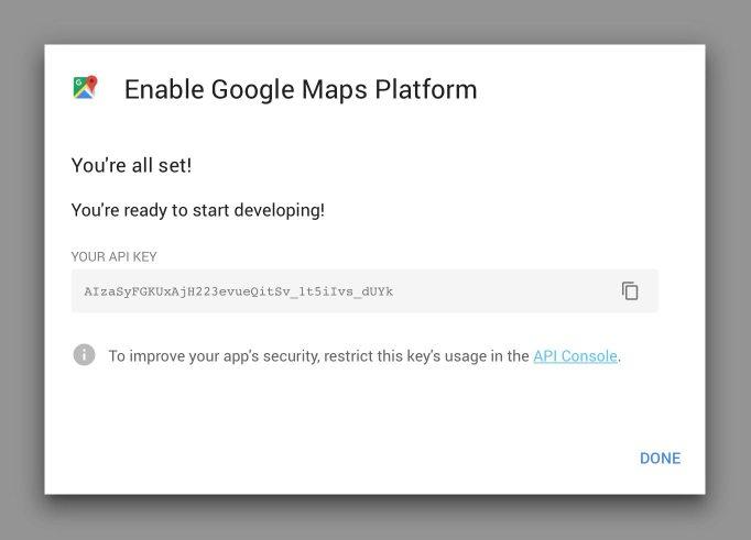 Google Maps API Done