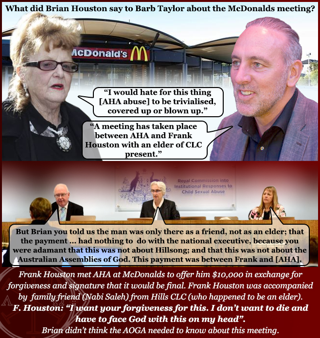 Barbara Taylor Brian Houston Hillsong Royal Commission AHA Scandal