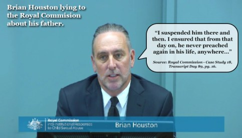 Brian Houston Lying to Royal Commission4