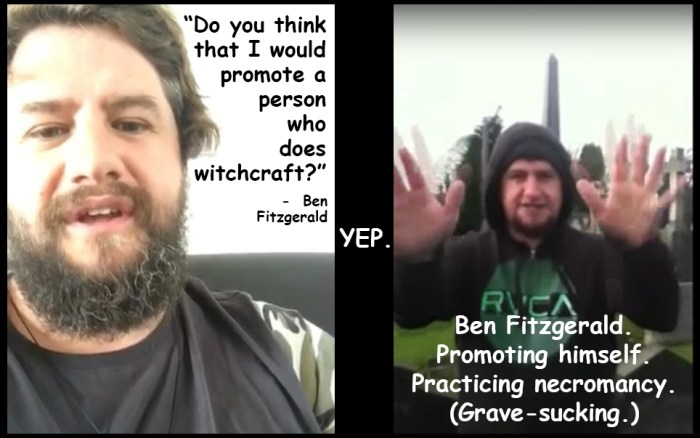 Refuting Ben Fitgerald - promoting witchcraft